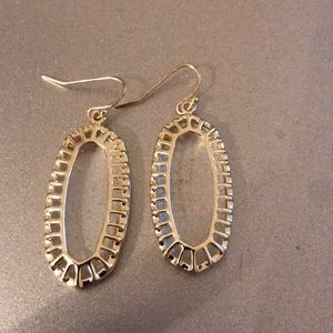 Kendra Scott clear drop earrings